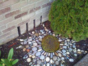 Sodo akmenukų mozaika