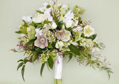 Švelnių spalvų vestuvinė puokštė