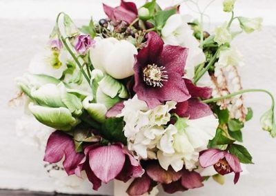 Vestuvių puokštė (eleborai)