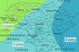 Augalų klimato zonos Lietuvoje
