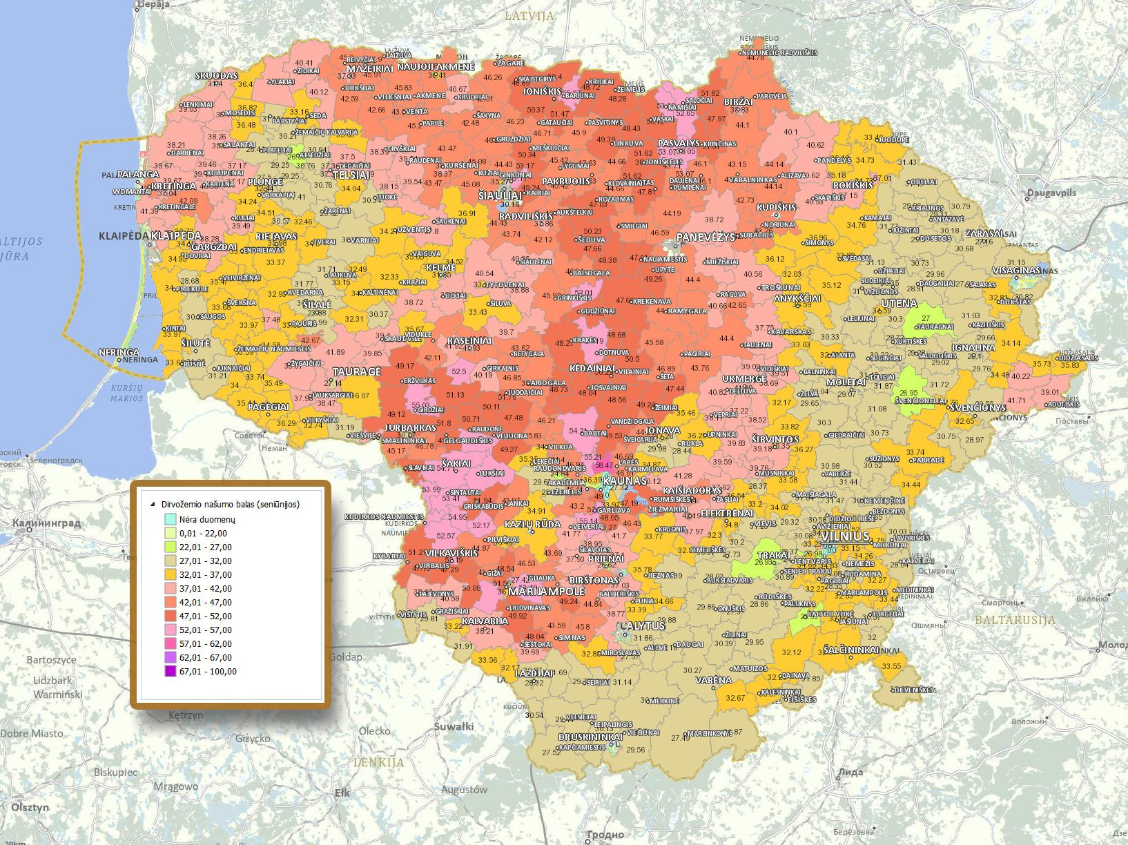 Lietuvos dirvožemių žemėlapis